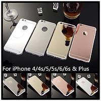 Чехол силиконовый/TPU зеркальный золотой для Iphone 6+/6 plus 5.5/6S plus/6S+