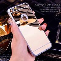 Чехол силиконовый/TPU зеркальный золотой для Iphone 6/6S 4.7