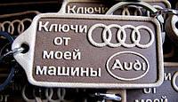 Кожаный брелок для авто Ауди AUDI