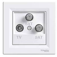 Schneider Electric Розетка TV-SAT оконечная (1 дБ), белый