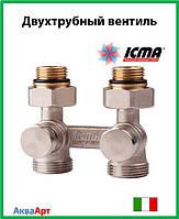 Icma Двухтрубный вентиль для панельного радиатора со встроенной термостатической группой Арт. 897