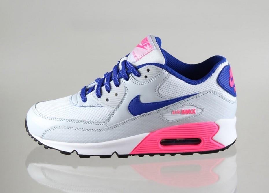 4ed74488 Nike Air Max 90 Grey/Blue/Pink: продажа, цена в Киеве. кроссовки ...