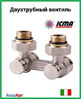 Icma Двухтрубный вентиль для панельного радиатора со встроенной термостатической группой Арт. 884