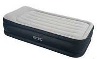 Надувная кровать с подголовником Intex 66732  в Харькове (102х203х48 см)