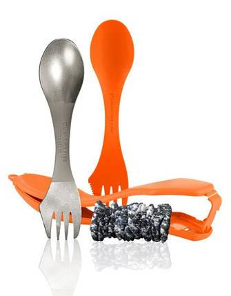 Ложка-вилка-нож титановая с чехлом LIGHT MY FIRE Spork The Ultimate Orange 55702340/55703610, фото 2