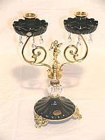 Подсвечник на 2 свечи с позолотой