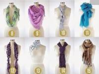 33 способа завязывания шарфа