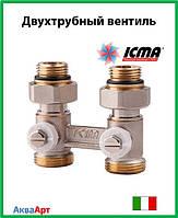 Icma Двухтрубный вентиль для панельного радиатора со встроенной термостатической группой Арт. 912