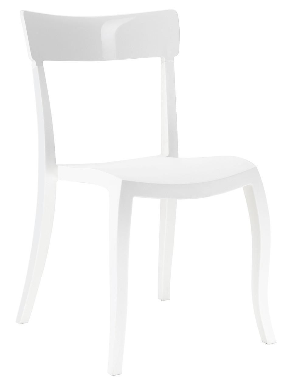 Стілець Hera-S сидіння Біле верх Білий (Papatya-TM)