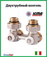Icma Двухтрубный вентиль для панельного радиатора со встроенной термостатической группой Арт. 913