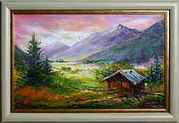 Картина маслом «Карпатские горы» (картины на тему горы)