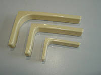 Крепления к полкам // GIFF (FF) / L =120мм / бежевый / металл+пластик / для ЛДСП / (кут під полицю)