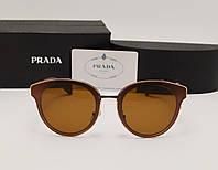 Женские солнцезащитные очки Prada spr 11 коричневый цвет, фото 1