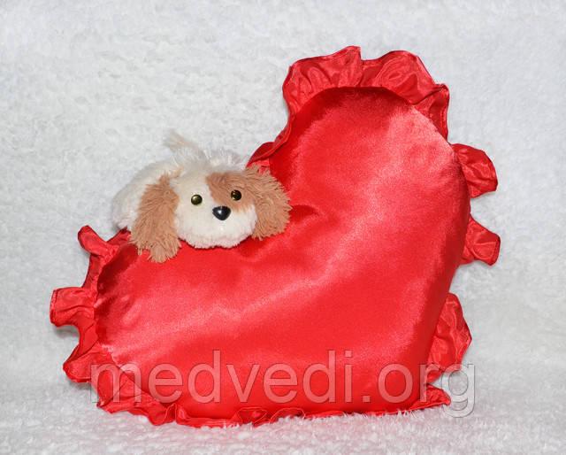 Подушка-сердце с рюшами