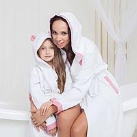 Детский махровый халат с ушками для маленькой девочки Жаклин от Guddini  от 0 до 12 месяцев