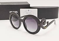 Женские солнцезащитные очки Prada spr 27 черная оправа, фото 1