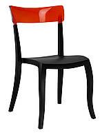 Стул Hera-S сиденье черное верх прозрачно-красный