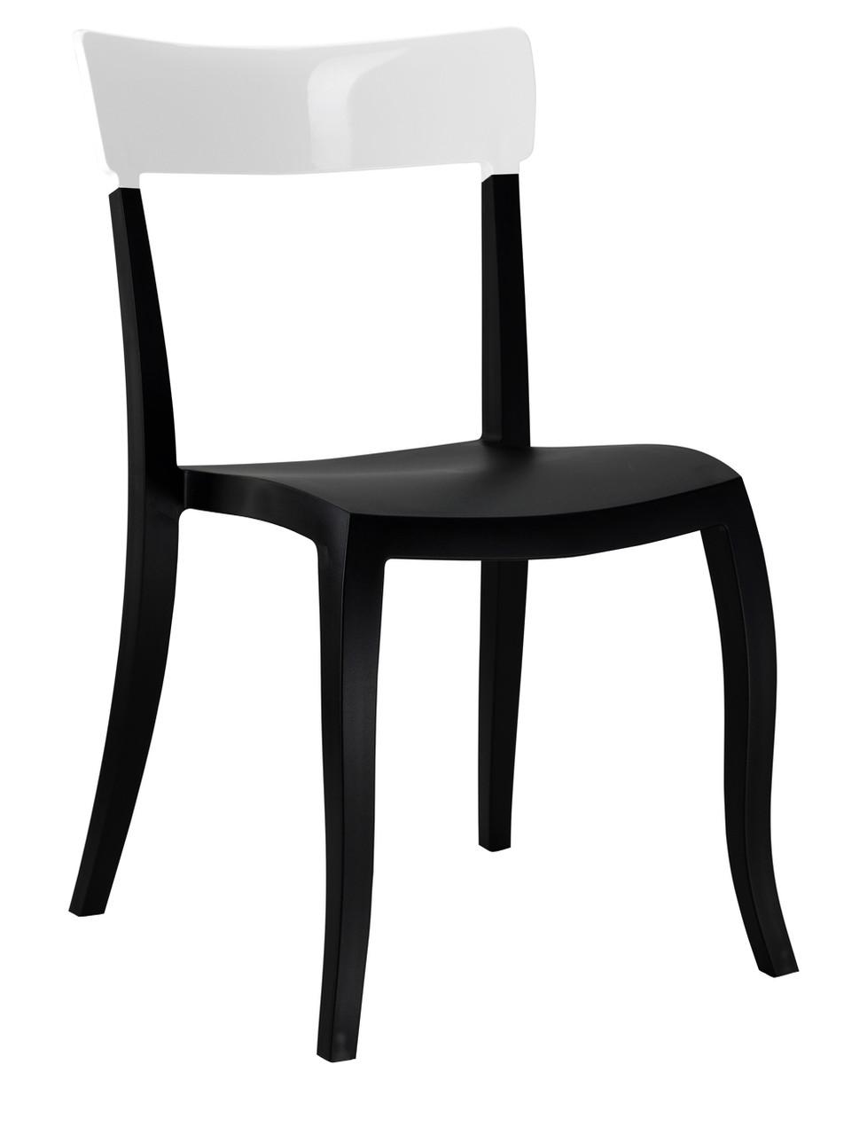 Стул Hera-S сиденье Черное верх Белый (Papatya-TM)