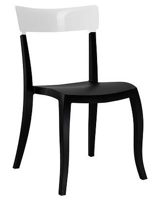 Стул Hera-S сиденье Черное верх Белый (Papatya-TM), фото 2
