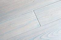Однополосная паркетная доска Сунгкай белый с голубым под лаком