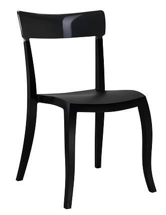 Стул Hera-S сиденье Черное верх Черный (Papatya-TM), фото 2