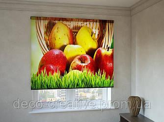 Рулонные шторы с фотопечатью наливные яблочки