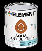 Антисептик, ТМ ELEMENT Aqua Antiseptik цветной, 0.75L
