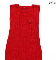 Вязаное платье для девочки. 1 год