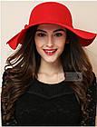 Шляпа женская, фетровая с широкими полями. Опт и розница.