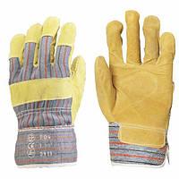 Рабочие перчатки спилок с х/б. Размер 10