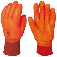 Перчатки покрытые ПВХ, антискользящие, размер 9,5