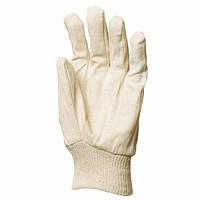 Перчатки тканые хлопковые с вязаным манжетом