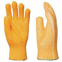 Перчатки трикотажные с ПВХ сеткой