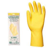Перчатки латексные для различных работ.  Желтые. К50Щ50. Размеры 7-10