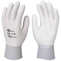Перчатки белые из полиамида для точных работ