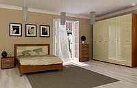 Спальня Белла (ваниль глянец /вишня бюзум) (с доставкой)