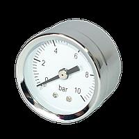 """RS-K 1/4"""" ф.42 Манометр фронтальный 0-10 bar хром"""