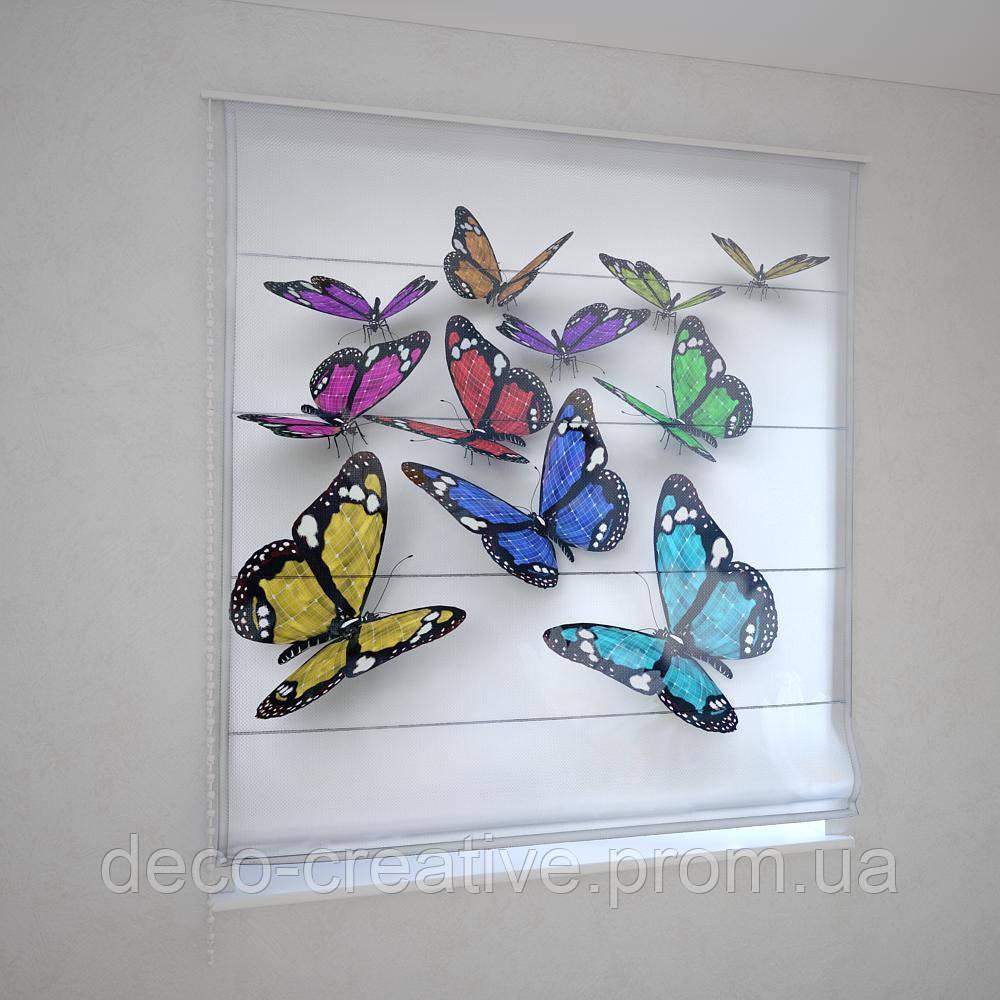 Римские фотошторы бабочки 3D