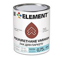 Паркетный лак ELEMENT Polyurethane Varnish,  полуматовый, 0.6 кг