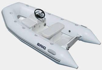 Пластиковая лодка с надувными баллонами Brig F300Deluxe