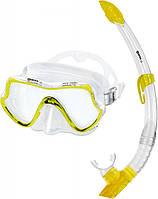 Набор Mares PURE VISION (маска + трубка) для подводного плавания (желтый)
