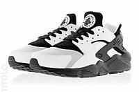 "Мужские Кроссовки Nike Huarache ""White Black"" - ""Белые Черные"" (Копия ААА+), фото 1"