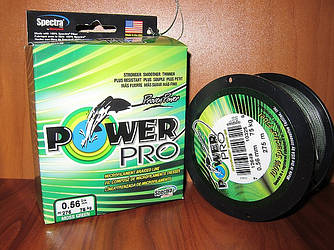 Плетенка Power Pro 275м d 0.56мм зеленая