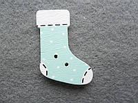 Носочек, деревянная пуговица