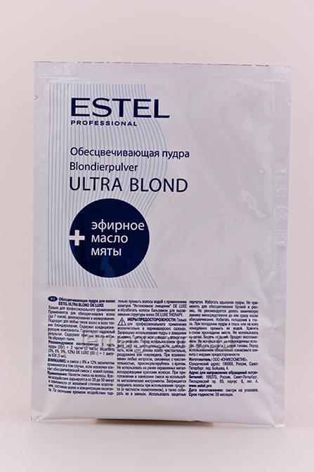 Estel Professional De Luxe Ultra Blond Пудра для обесцвечивания, 30 гр