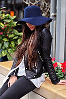 Женская фетровая шляпа с широкими полями. Опт и розница.