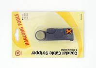 Инструмент для зачистки коксиал.кабеля RG-58,59,6,пластик в блистере