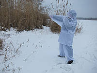 Белый масккостюм для зимней охоты