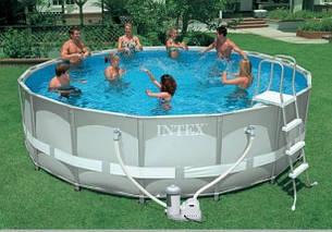 Круглый каркасный бассейн Intex 28326/54470