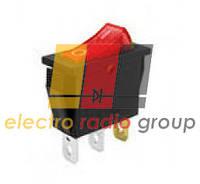 159-R (GY5-2007) кнопка вузька 3кон. вкл/вим червона